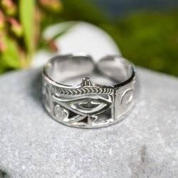 Horus Auge Ring Talisman aus Silber 925