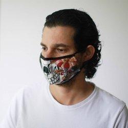 Modische Schutzmaske - Bunte Calavera