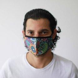 Modische Schutzmaske - Paisleymuster