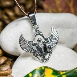 Skarabäus mit Fürsorgliche Flügel Talisman aus Silber 925