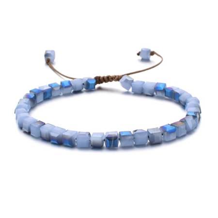Blau-Lila Kristall Armband ZMZY