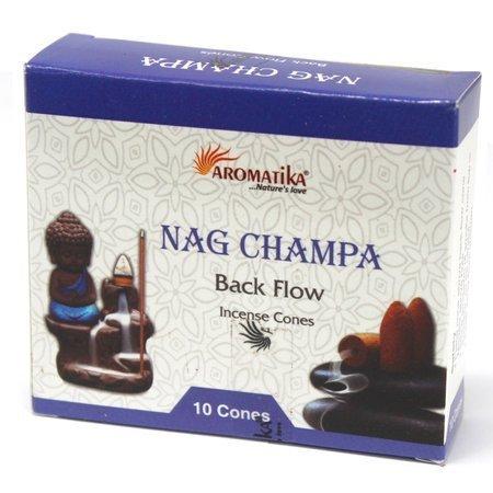 Nag Champa - 10x Aromatika Backflow Räucherkegel