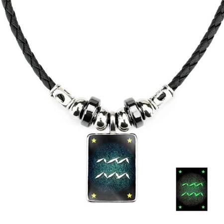 Wassermann - Lumineszenz Halskette mit Sternzeichen
