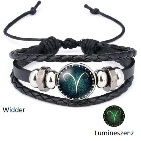 Widder - Lumineszenz Armband mit Sternzeichen